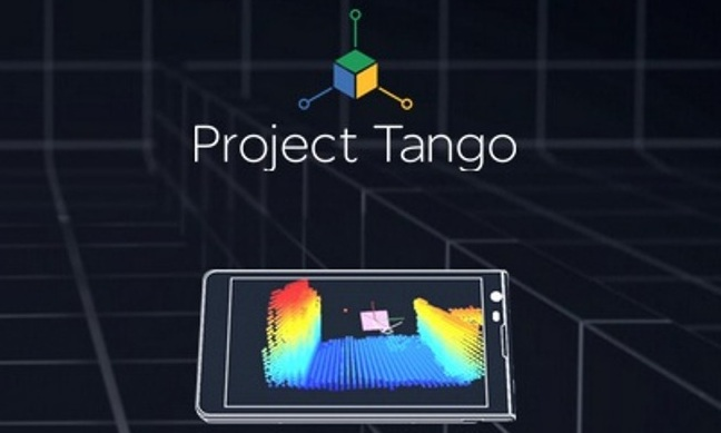 Cropped Screenshot of the Official Project Tango Website