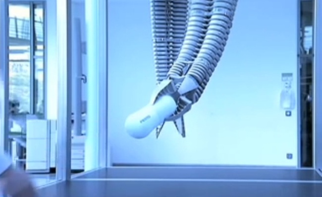 screencap from New Scientist video on Robotic Elephant Trunk / https://www.youtube.com/watch?v=2ZF35JUNaDg