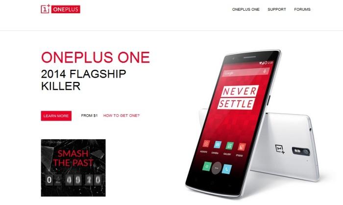 Screenshot from the Official OnePlus Website (http://oneplus.net)