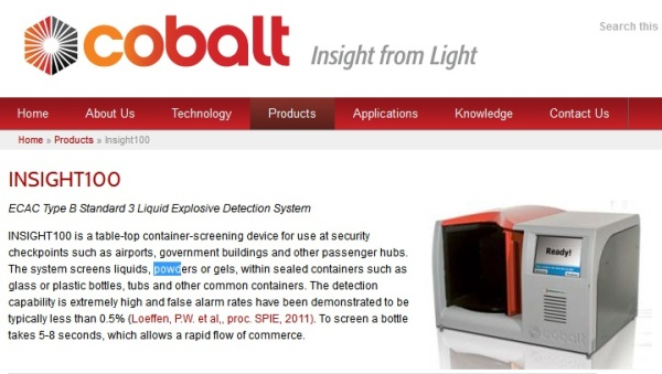 Screenshot from the official Cobalt Light Systems website (http://www.cobaltlight.com)