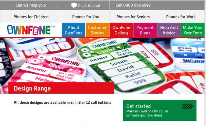 Screenshot from the official OwnFone website (http://ownfone.com)