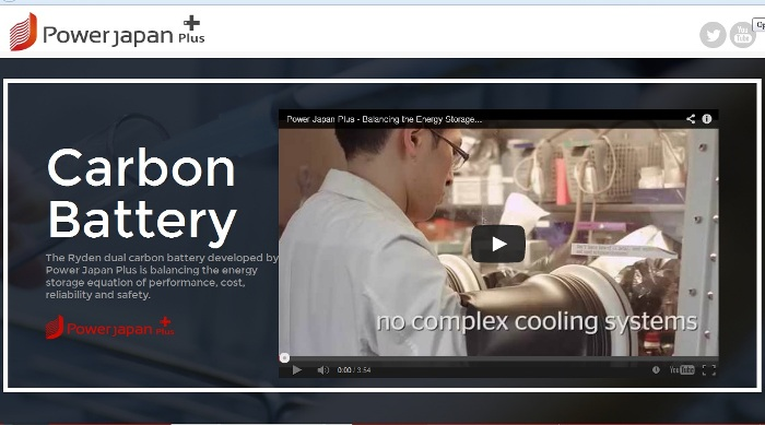 Screenshot of the official Power Japan Plus website (http://powerjapanplus.com/)