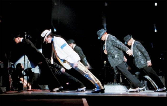 "Screenshot from the ""Smooth Criminal"" video by Michael Jackson."