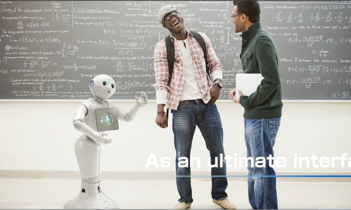 Screenshot from the official Aldebaran and SoftBank Group presentation on Pepper