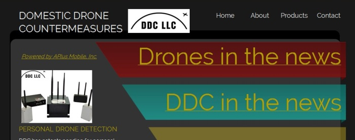 Screenshot of the official DDC LLC website (http://www.ddcountermeasures.com/)