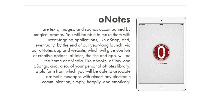 Screenshot of the official oNotes website (http://www.onotes.com)