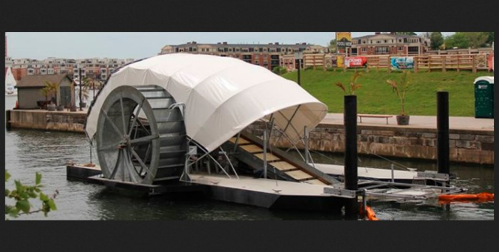 Cropped screenshot from the Inner Harbor Water Wheel website (http://www.healthyharborbaltimore.org/whats-happening-now/water-wheel)