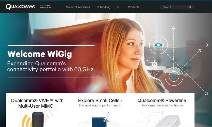 Cropped screenshot of the official Qualcomm website (Qualcomm.com)