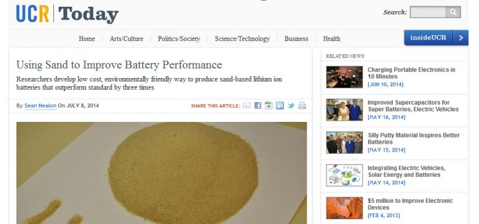 Using sand to improve battery capacity
