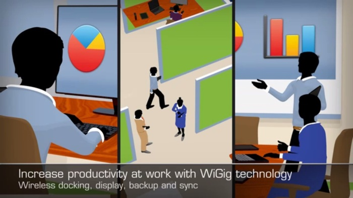 Screenshot of the official WiGig promo video from Qualcomm