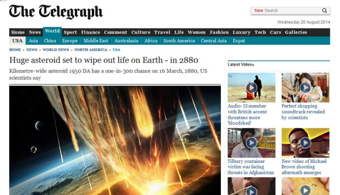 Screenshot of The Telegraph report (click on the image to go to the report)