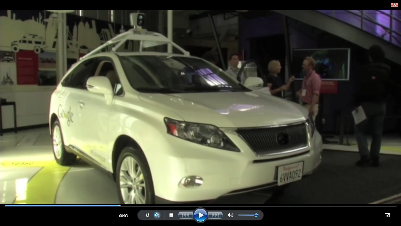Screenshot from the Reuters video for the test drive (click on the photo for the article)