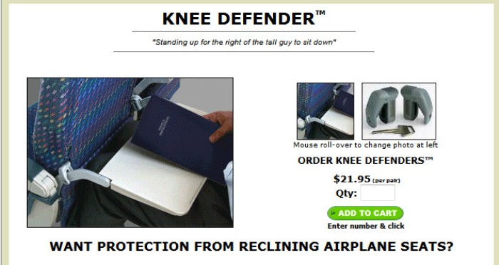 Screenshot from the Knee Defender website (http://www.kneedefender.com/)