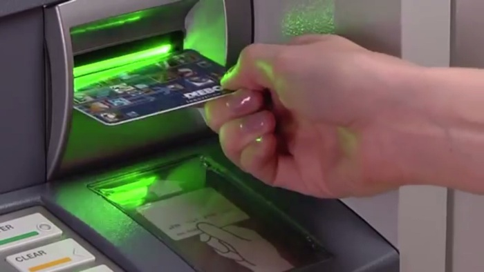 Screenshot from the promo video of Diebold's ActivEdge card reader [fair use]