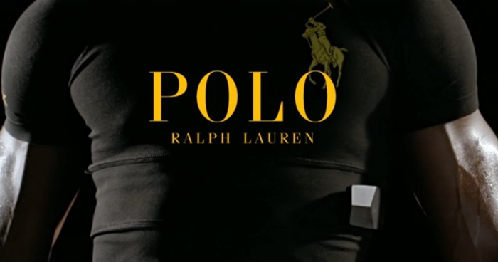 Screenshot of Ralph Lauren's Wearable Tech Shirt promo video