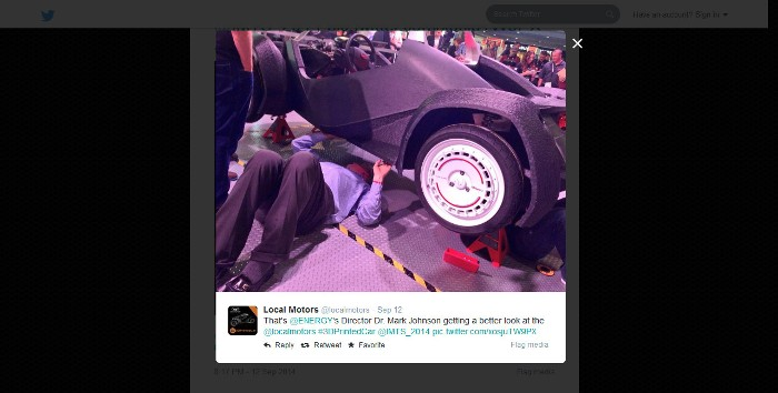 Image from the official Local Motors Twitter account (@localmotors)