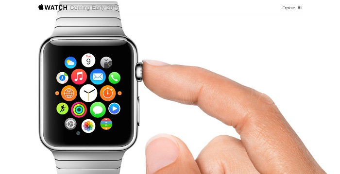 Screenshot of the official Apple Watch page (http://www.apple.com/watch/)