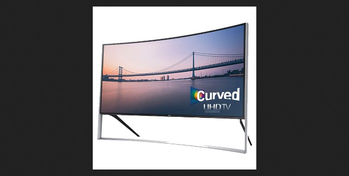 Screenshot of the Samsung official curved TV page (http://www.samsung.com/us/video/tvs/UN105S9WAFXZA)