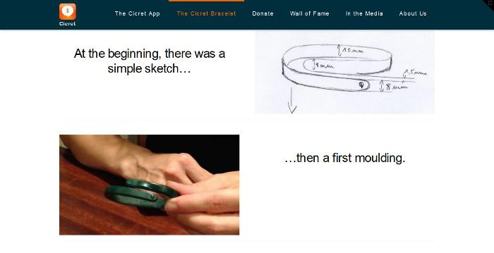 Screenshot of the official Cicret website (http://www.cicret.com/)