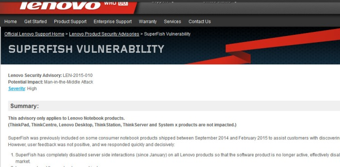 Image credit: Screenshot of official Lenovo website