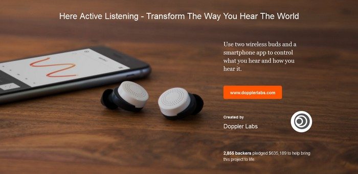 Image credit: Doppler Labs, from the official Here website
