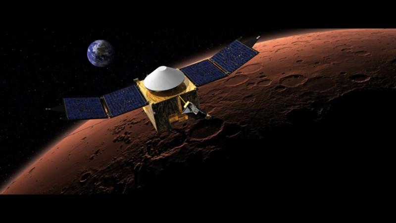 MAVEN,  Image credit: NASA via Wikimedia Commons