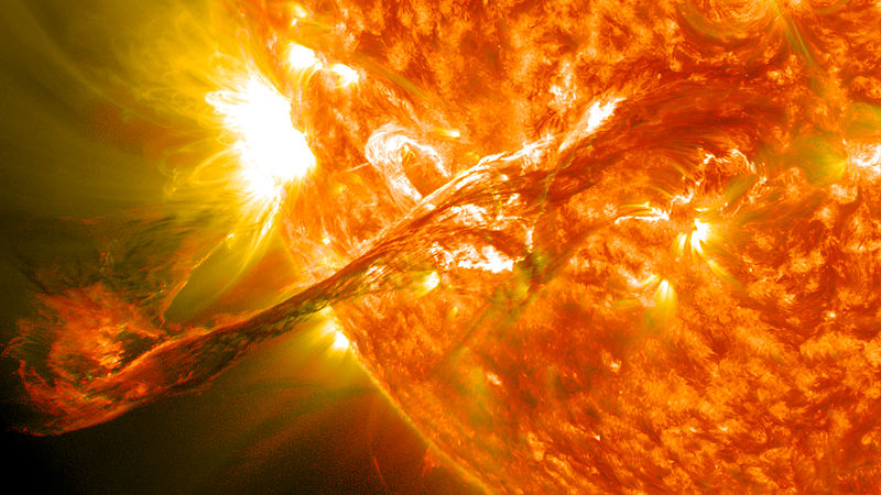 Coronal Mass Ejection, Image credit: NASA Goddard Space Flight Center via Wikimedia Commons