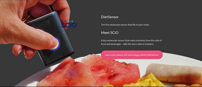 Image credit: SCiO DietSensor (website screenshot)