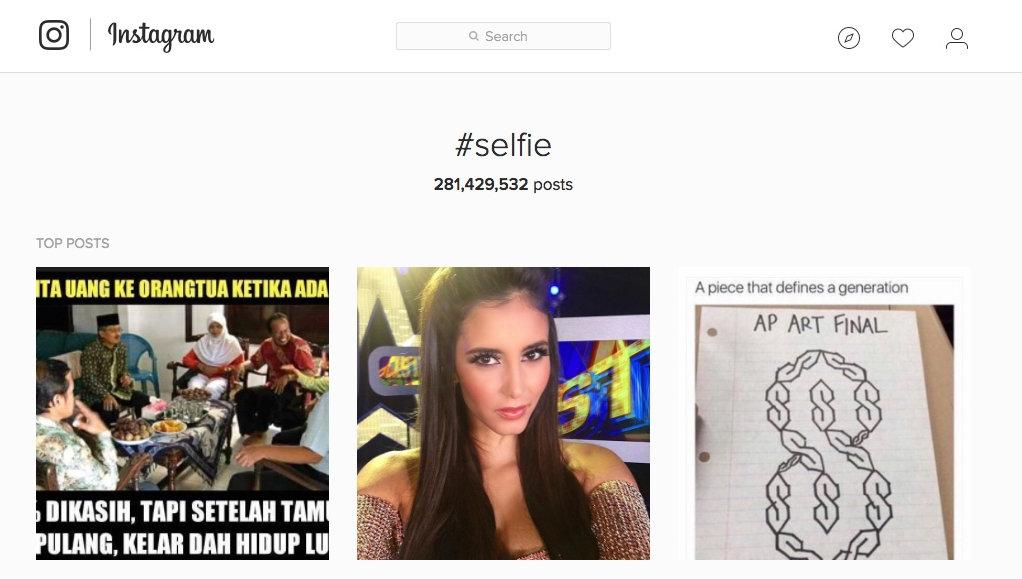 Instagram #selfie