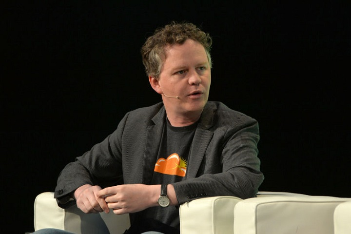 LONDON, ENGLAND - OCTOBER 21: Left-Right: Cloudflare Partner, Matthew Prince appears on stage at the 2014 TechCrunch Disrupt Europe/London, at The Old Billingsgate on October 21, 2014 in London, England. (Photo by Anthony Harvey/Getty Images for TechCrunch) *** Local Caption *** Matthew Prince