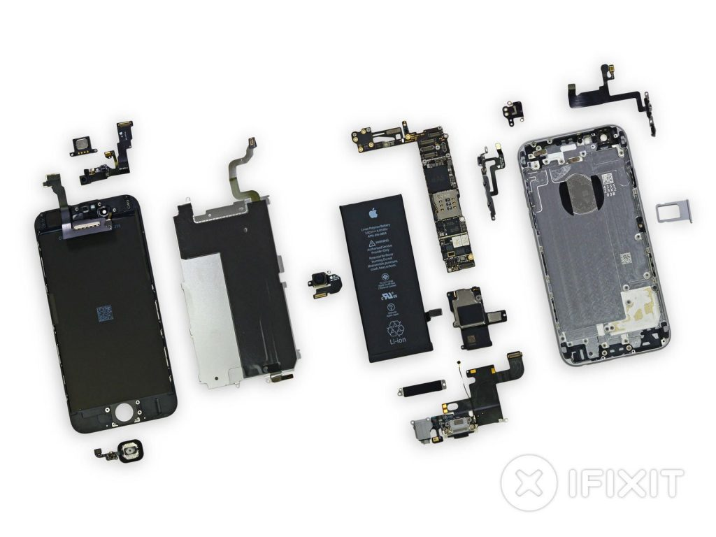 Apple iPhone parts (Image Source: ifixit)