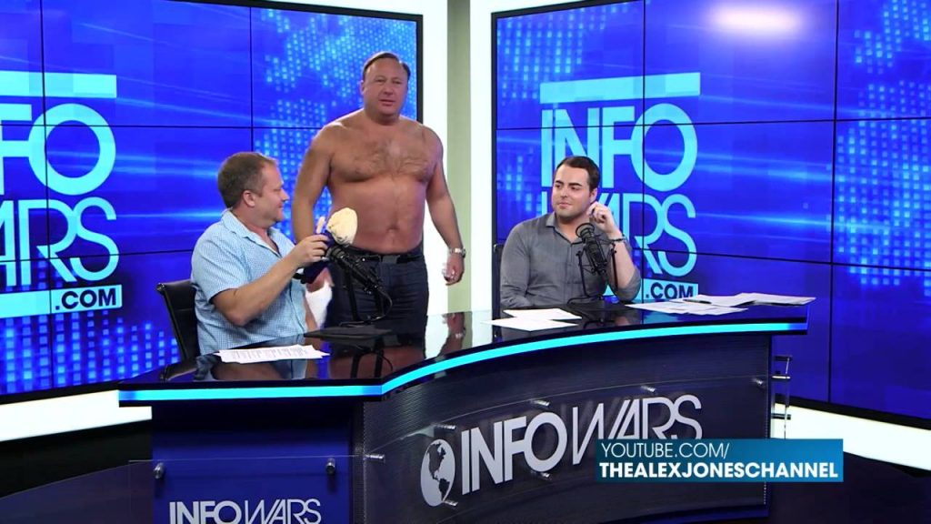 An example of the insanity in InfoWars (Image Source: cyberspaceandtime)