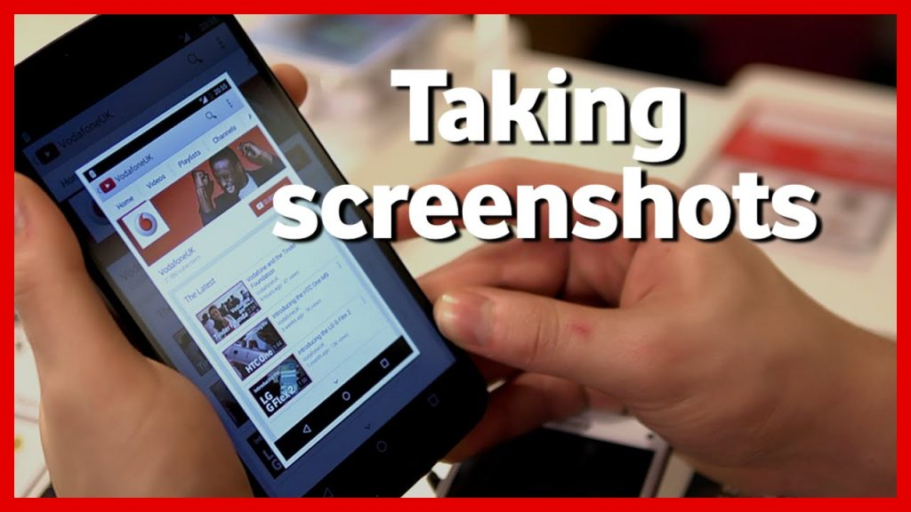 taking screenshots